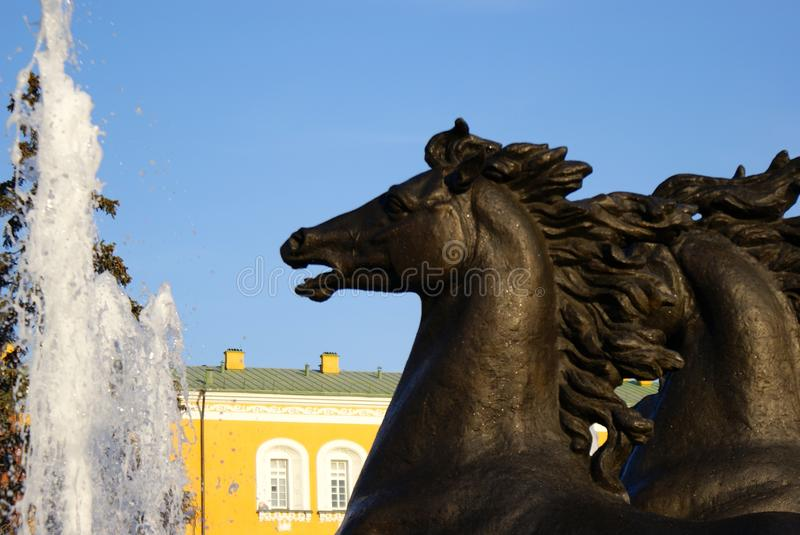 Moscow fountain red square royalty free stock photography