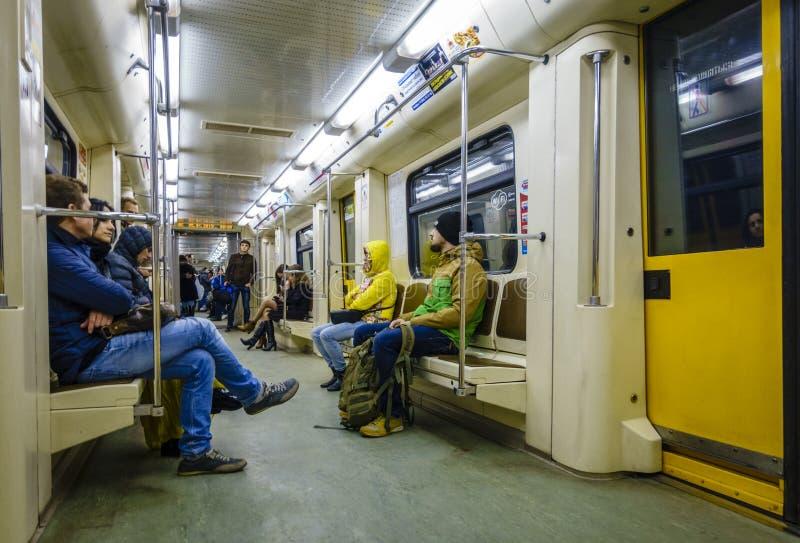 moscow gångtunneldrev arkivbild