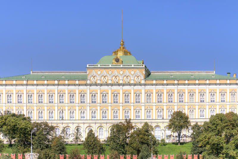 Moscow. Grand Kremlin Palace. Facade. Parade residence of president of Russian Federation stock photos