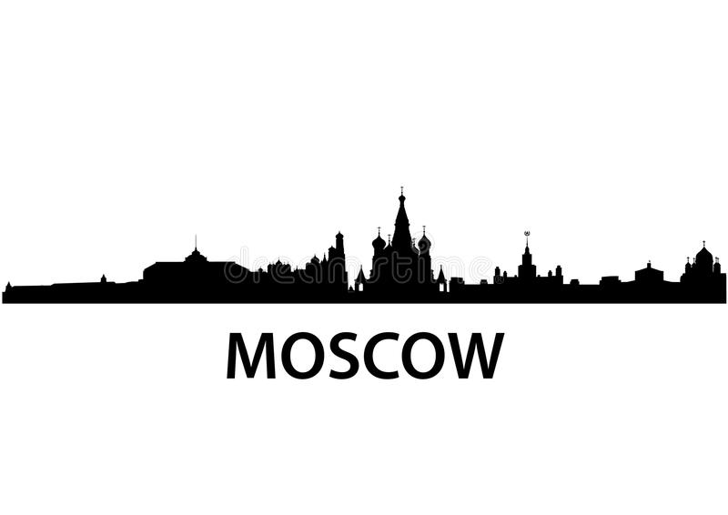 moscow horisont stock illustrationer