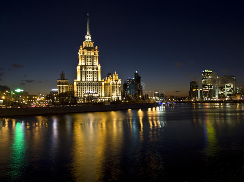 Download Moscow, hotel editorial stock image. Image of blue, landmark - 34320029