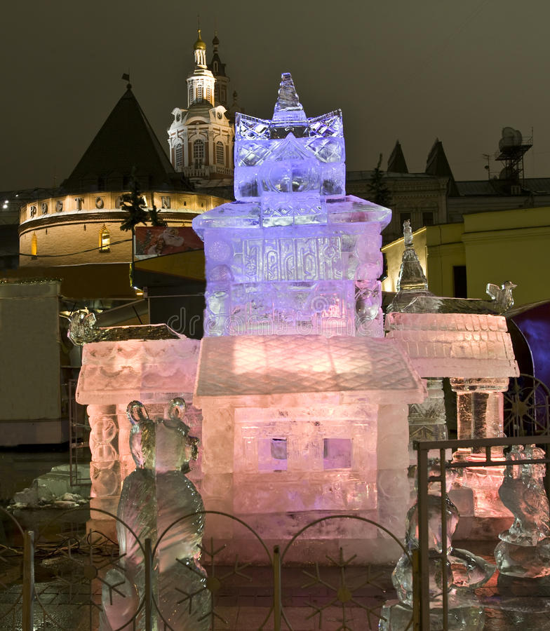 Moscow, ice palace on Christmas