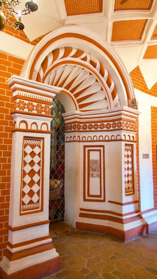 moscow Interior da catedral do St Basil's foto de stock