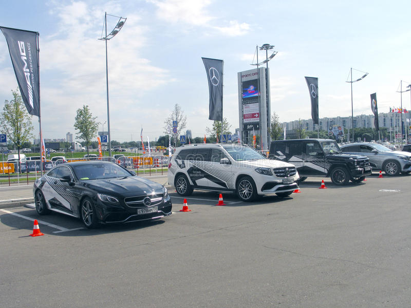 Moscow International Auto Show 2016. Mercedes cars. August 29th, 2016. Moscow. Russia stock images