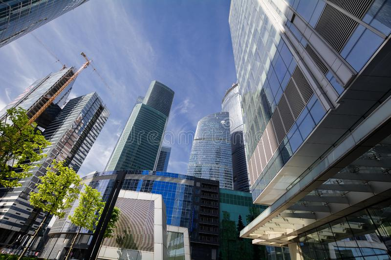 The Moscow International Business Center MIBC Moskva-Citi royalty free stock photos