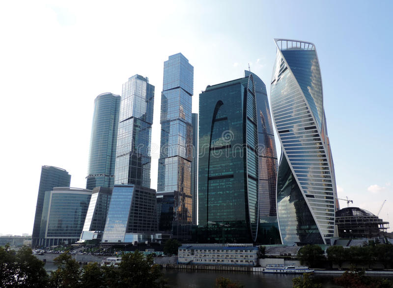 """Moscow International Business Center """"Moscow City"""". Moscow, Russia royalty free stock photo"""