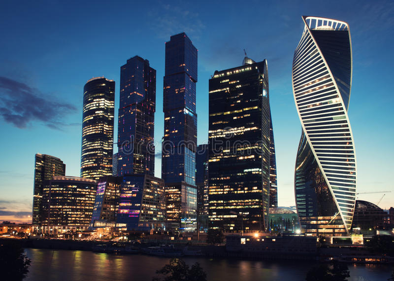 Moscow International Business Center Moscow-city. Skyscrapers royalty free stock photos