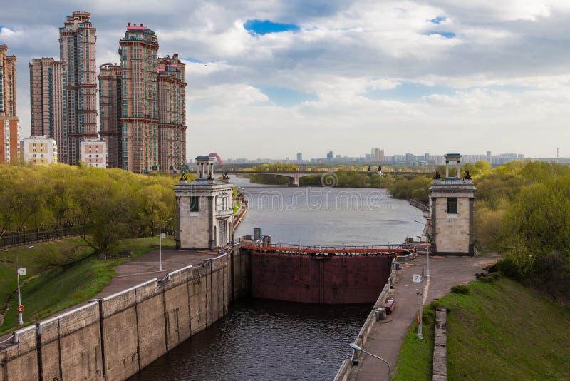 Moscow kanal. Nyckel arkivfoton