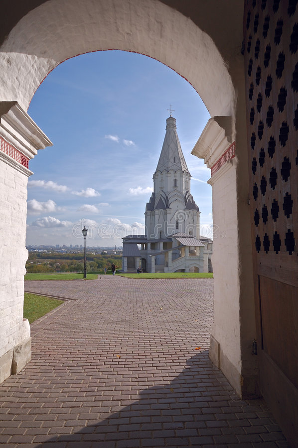 Moscow. Kolomenskoe stock image