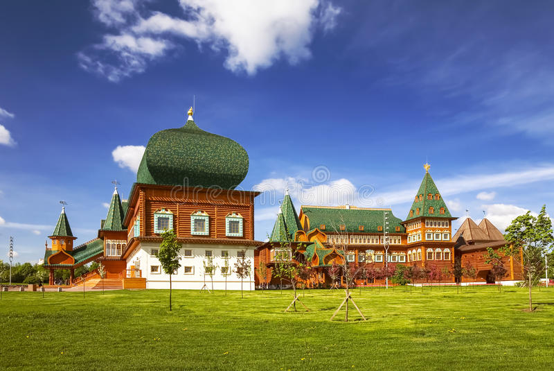 moscow Kolomenskoye Дворец царя Alexei Mikhailovich, стоковое фото rf