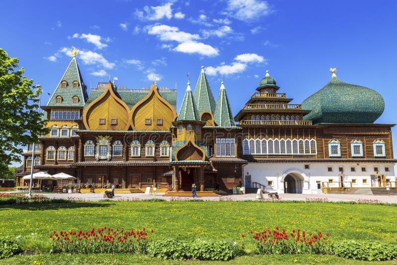 moscow Kolomenskoye Дворец царя Alexei Mikhailovich стоковое фото