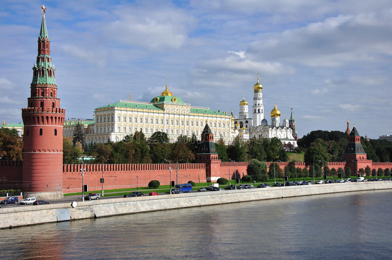 The Moscow Kremlin. royalty free stock images
