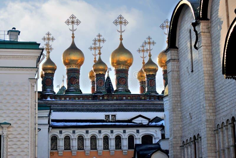 Moscow Kremlin. Color photo. Terem churches. Moscow Kremlin. UNESCO World Heritage Site. Color photo. Terem churches royalty free stock photo