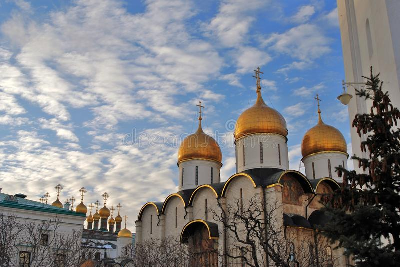 Moscow Kremlin. Dormition cathedral. Color photo. Moscow Kremlin. Dormition cathedral. UNESCO World Heritage Site. Color photo royalty free stock image