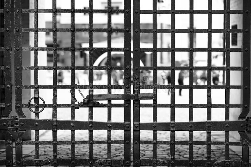 Moscow Kremlin gate closeup background stock photography