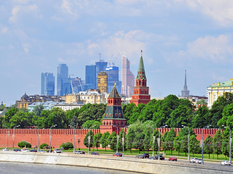 Download Moscow Kremlin And Moscow-city District Stock Photo - Image: 40968412