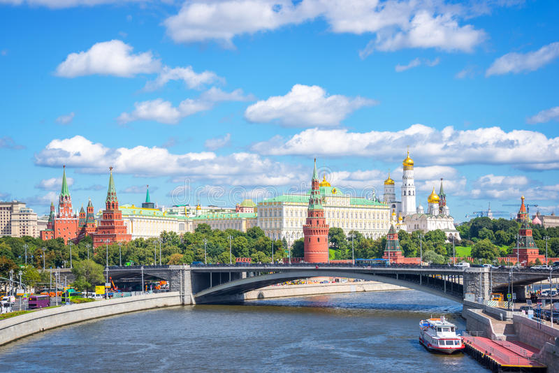 Moscow Kremlin and the Moskva river, Russia stock photos