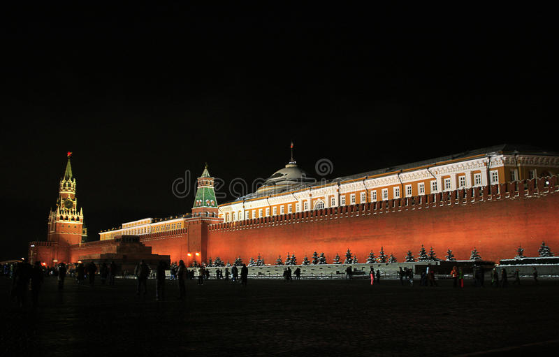 Moscow Kremlin at night royalty free stock photos
