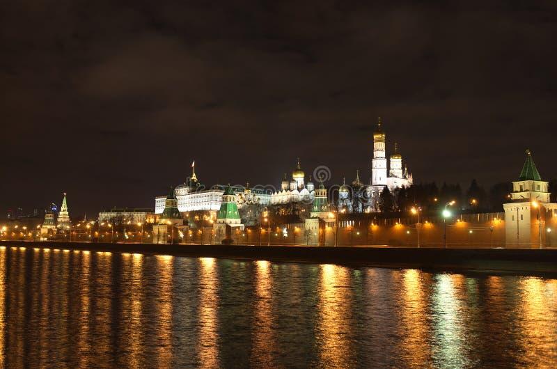 Moscow Kremlin night view royalty free stock image
