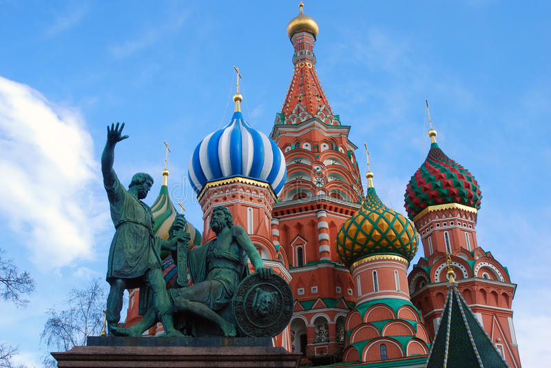 Moscow Kremlin, Red Square, St. Basil Cathedral stock image