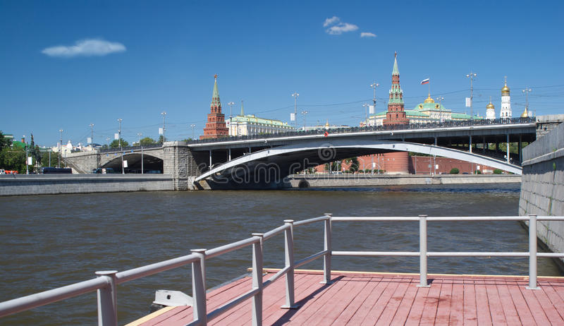Moscow Kremlin from river view royalty free stock photography