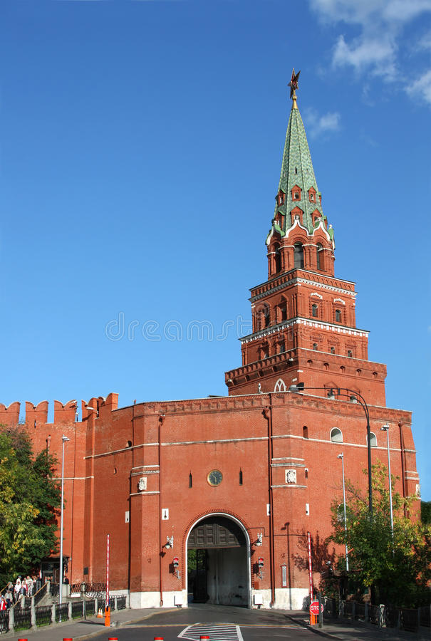 Moscow Kremlin, Russia. Tower and gates of Moscow Kremlin stock photo