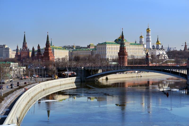 Moscow Kremlin in springtime royalty free stock photos
