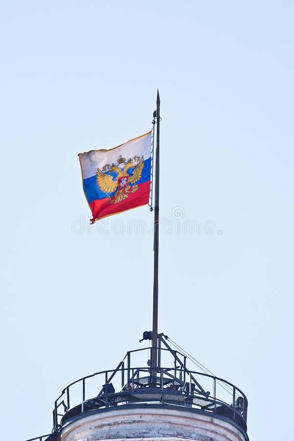 Moscow. Kremlin. State flag of Russia royalty free stock images