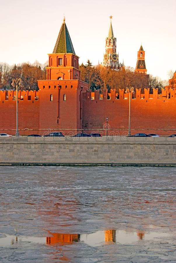 Moscow Kremlin towers. Color photo. Moscow Kremlin towers. UNESCO World Heritage Site. Color photo royalty free stock photography