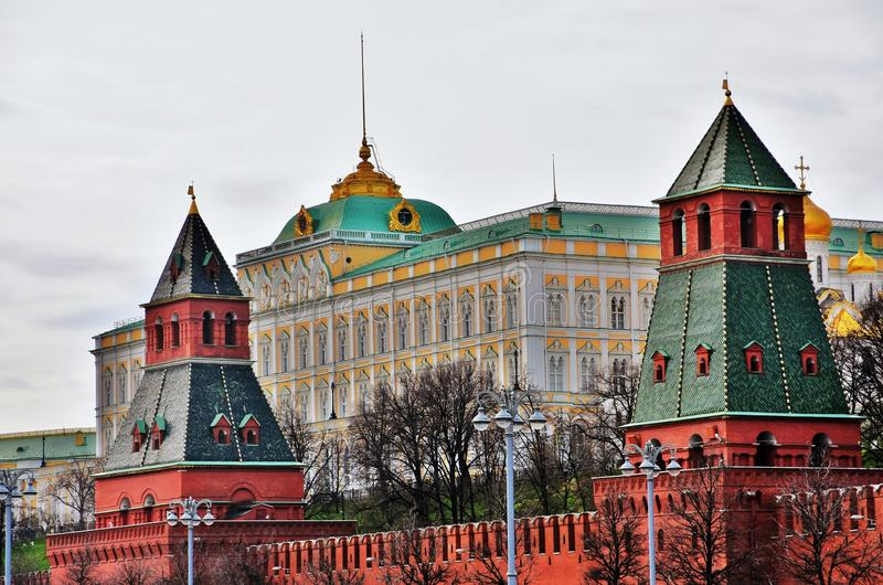 Moscow Kremlin. UNESCO World Heritage Site. View of the Moscow Kremlin, a popular touristic landmark. UNESCO World Heritage Site royalty free stock photos