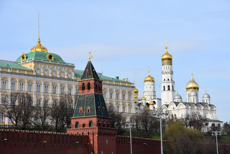 Moscow Kremlin. UNESCO World Heritage Site. View of the Moscow Kremlin, a popular touristic landmark. UNESCO World Heritage Site royalty free stock image