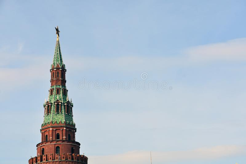 Moscow Kremlin. UNESCO World Heritage Site. View of the Moscow Kremlin, a popular touristic landmark. UNESCO World Heritage Site stock images