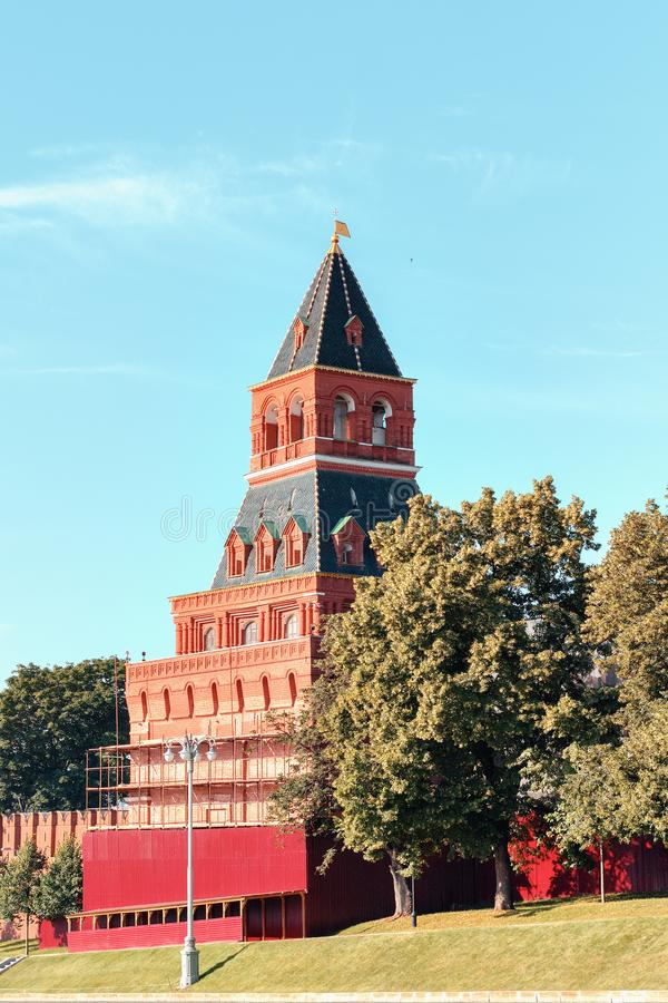 Moscow Kremlin Wall Towers in Moscow.Russia. Moscow, Kremlin Wall Towers in Moscow.Russia stock image