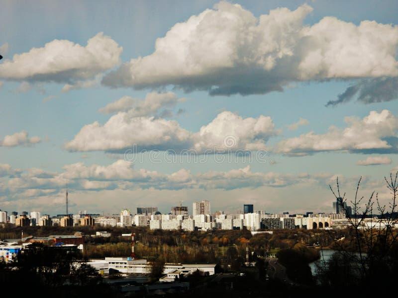 Moscow. Krylatskoye and Mnevniki stock image