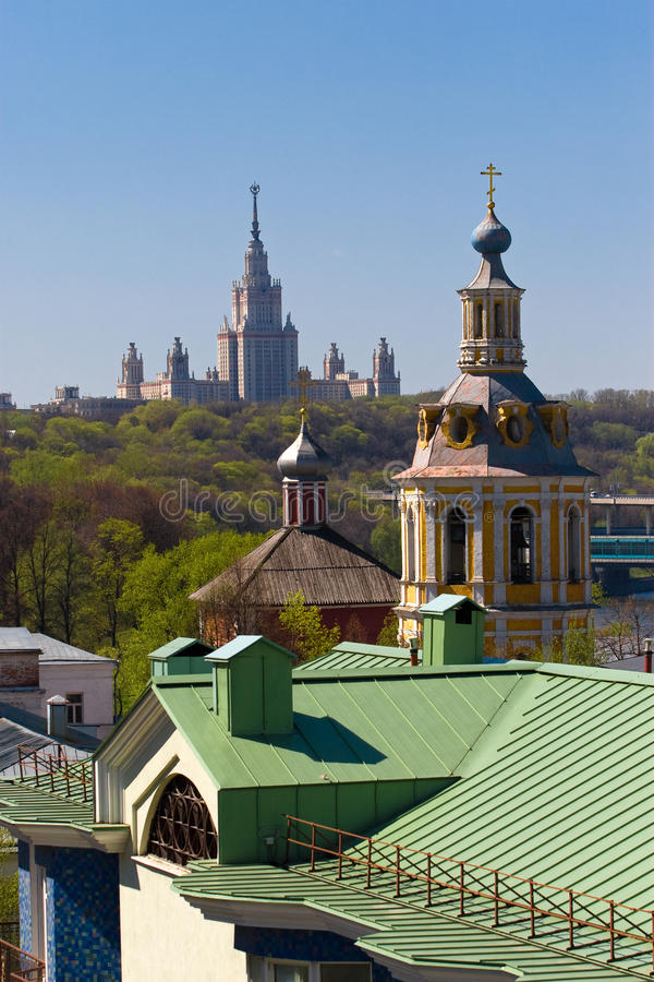 The Moscow landscape stock photos