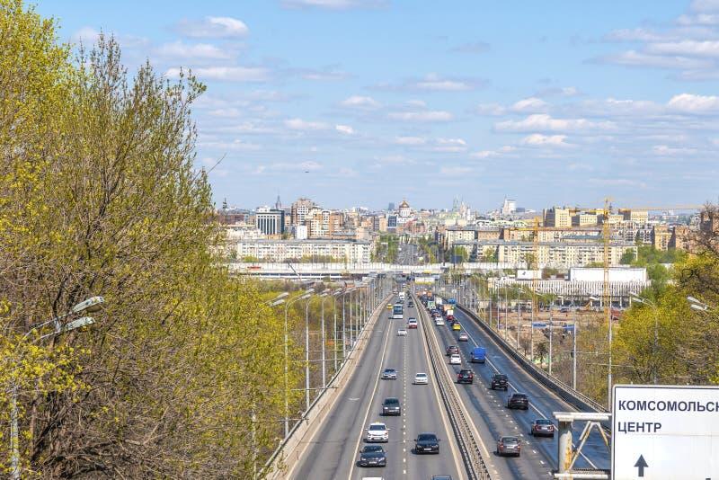 Moscow. Luzhniki Bridge across the Moskva River stock photography
