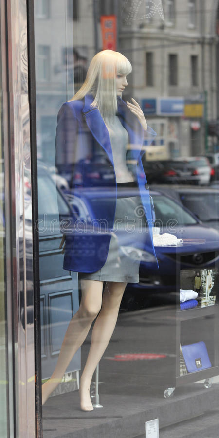 Download Moscow. A Mannequin Woman In The Shop Window Editorial Image - Image: 26875335