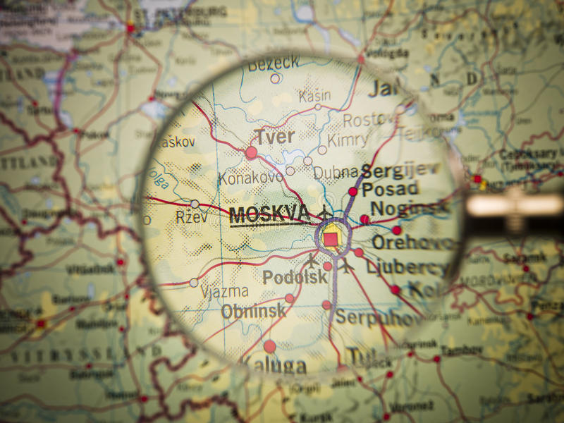 Download Moscow Map Stock Photos - Image: 22246803