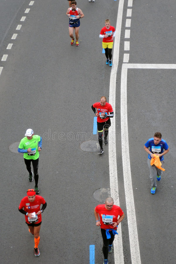 Moscow Marathon runners stock images
