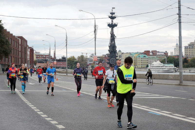 Moscow Marathon runners royalty free stock images