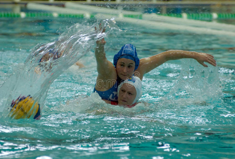 Waterpolo. Women royalty free stock photography