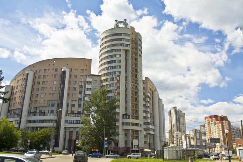 Moscow, modern buildigs stock image