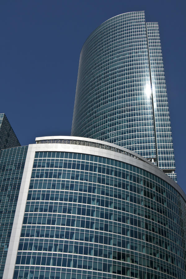 Moscow, modern building royalty free stock photography