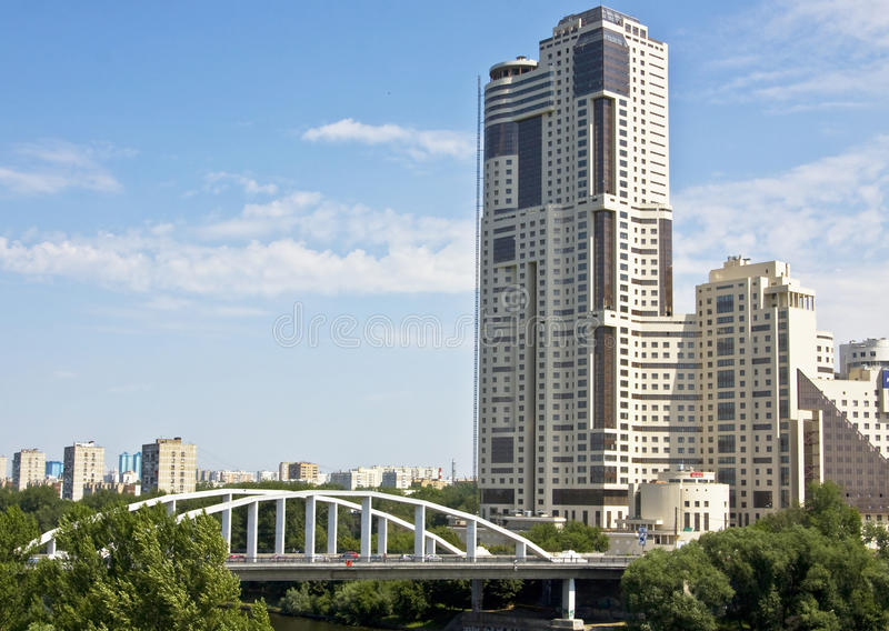 Moscow, modern building stock photo