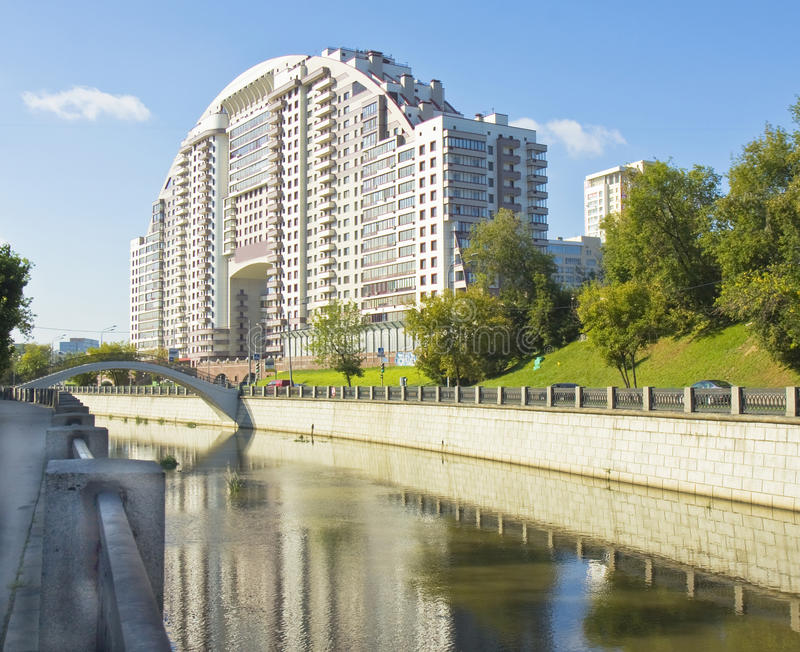 Moscow, modern complex stock images