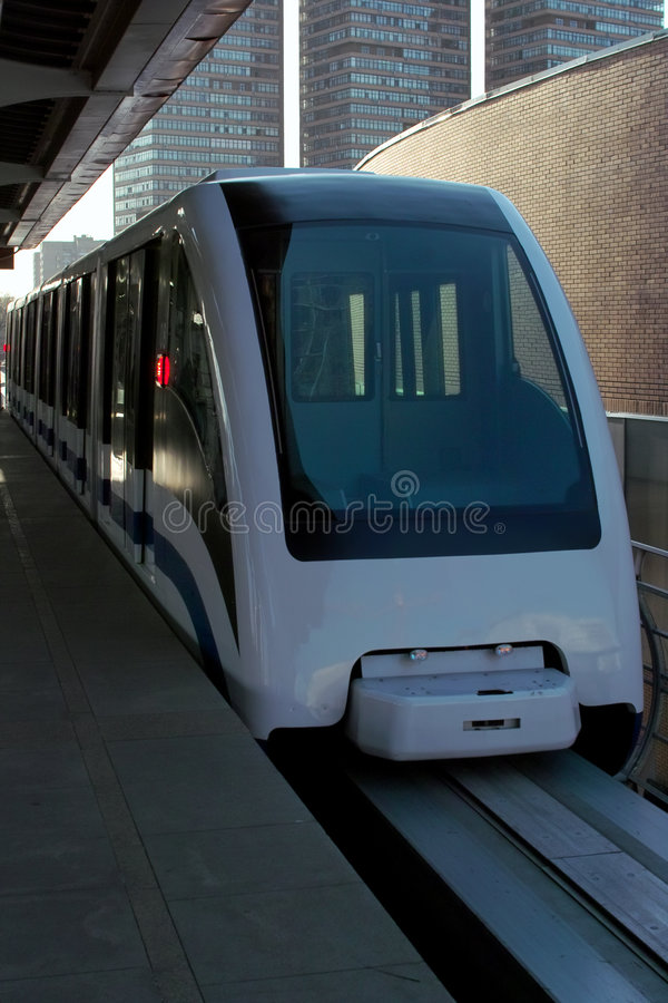 Moscow monorail stock photography