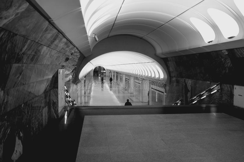 Moscow. Morning. Moscow's metro in the morning stock images