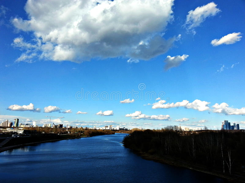 Moscow. The Moscow river. royalty free stock photo