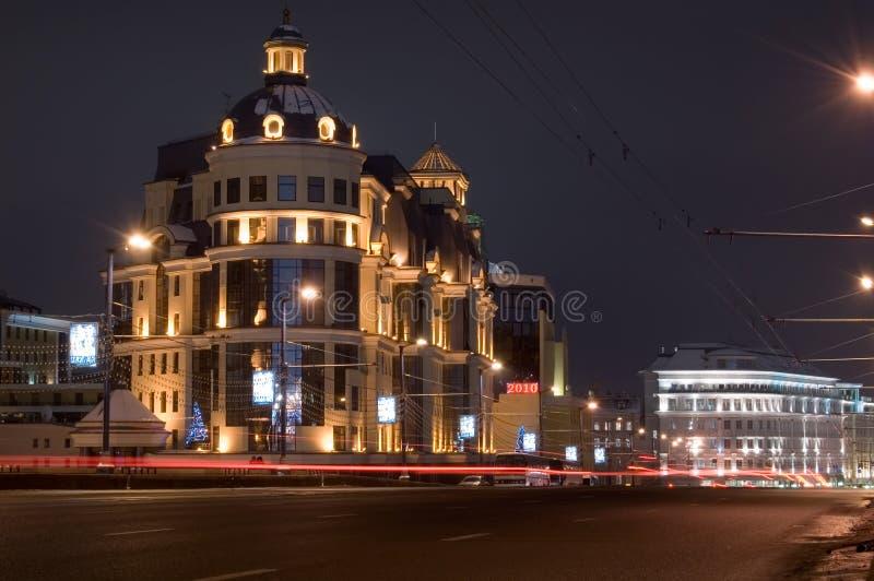 moscow natt royaltyfria bilder