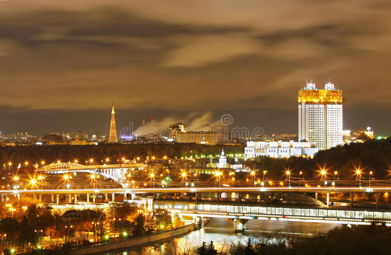 Download Moscow night stock image. Image of river, multi, lighting - 22252313